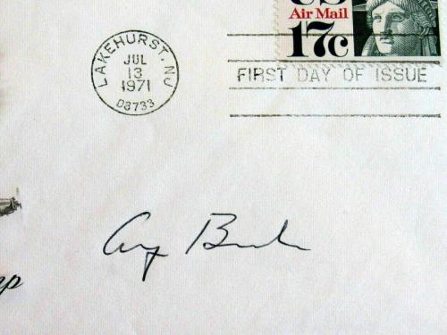 George H.w. Bush 41st President Signed Auto 1971 First Issue Air Mail Cachet Jsa