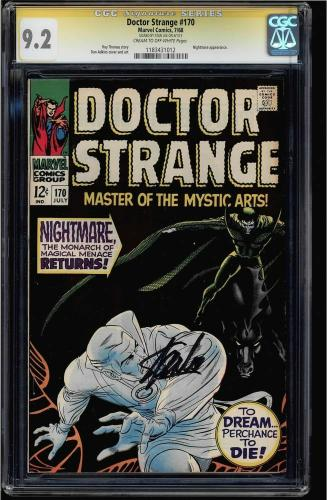 DOCTOR STRANGE CGC #170-183 (12 copies) SS STAN LEE Signed 7 Single HIGHEST