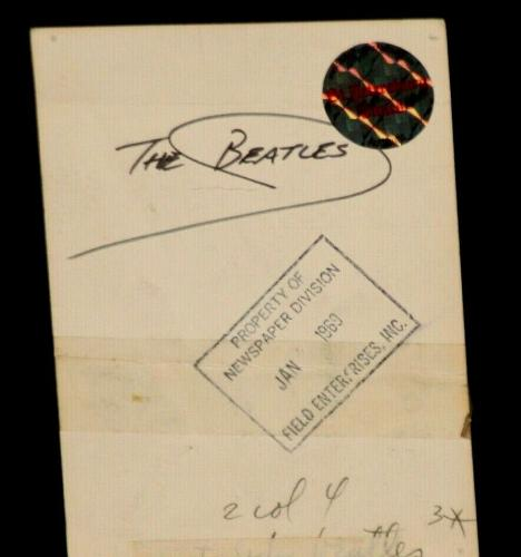 """1969 Beatles Original Stamp Dated Photograph Measuring Approximately 4.25"""" x 6"""