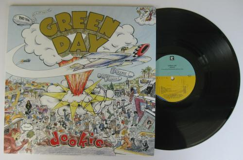 Billy Joe Armstrong signed autographed Green Day Dookie album,Vinyl Record,Proof