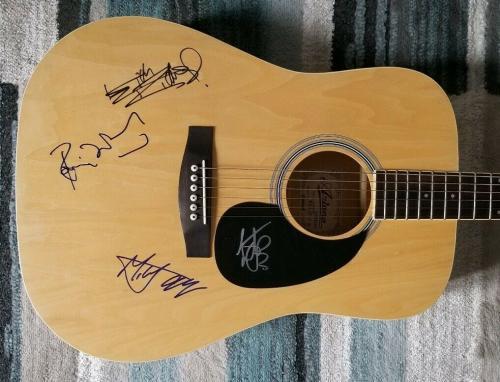 Rolling Stones X4 Signed Guitar Mick Jagger Keith Richards Wood Watts Jsa Coa