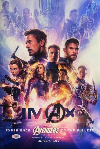Chris Hemsworth Danai Gurira Signed Marvel 'Avengers: Endgame' 12x18 Photo PSA