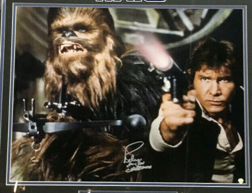 Peter Mayhew signed 16x20 Star Wars photo Chewbacca framed autograph Steiner COA