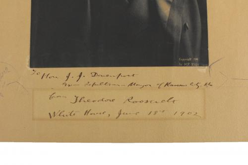 Theodore Roosevelt Signed 1902 7.75x11 Mounted Photo BAS #A57057
