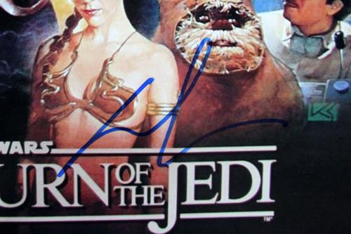George Lucas Star Wars Return of the Jedi Signed 12x18 Photo BAS #A57197
