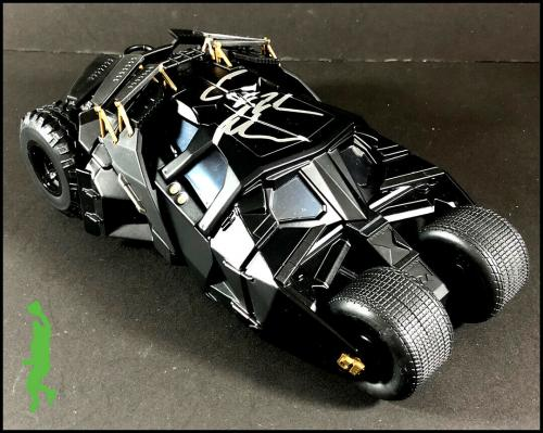 Christian Bale Autographed Batmobile Toy Car Dark Knight Batman Bas Beckett Coa