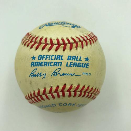 President Ronald Reagan Single Signed American League Baseball With JSA COA