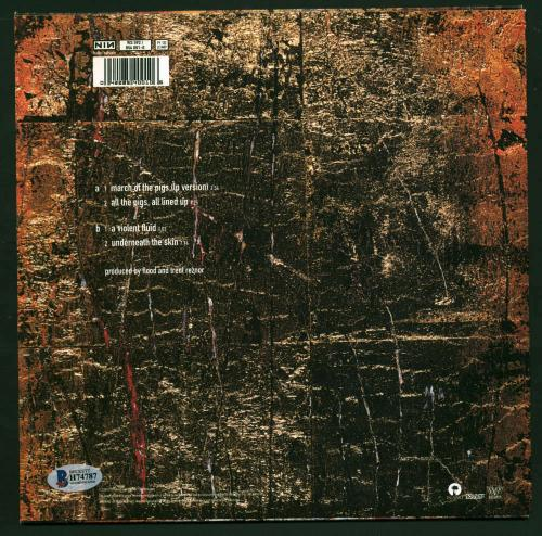 """NIN Trent Reznor Signed Autographed March of The Pigs 9"""" Album Beckett BAS"""