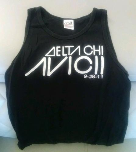 Avicii Music Delta Chi 9-28-11 Official Concert Tour Tank Top Unisex Size Small