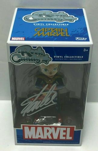 Stan Lee Signed Rock Candy Captain Marvel Vinyl Collectible Figure Excelsior COA