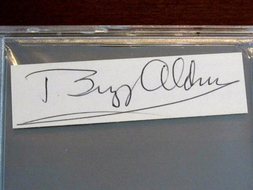 Buzz Aldrin Apollo 11 Nasa Astronaut 2nd On The Moon Signed Auto Cut Psa/dna Gem