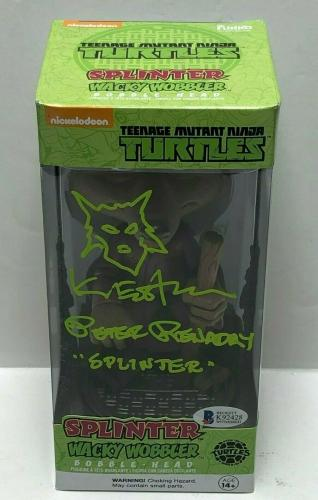 Peter Renaday & Kevin Eastman Signed Splinter Ninja Turtles TMNT Funko Pop BAS