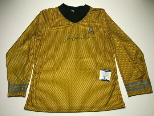 William Shatner Signed Captain Kirk Star Trek Costume Shirt BAS Beckett B58955