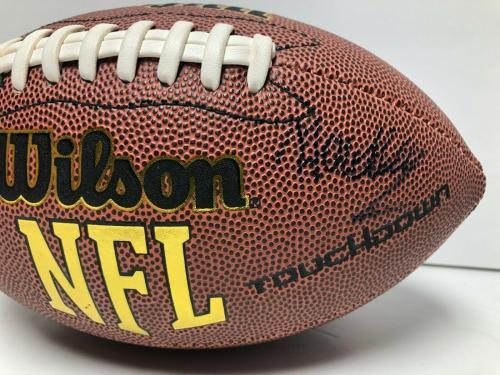 Hadley Belle Miller & Noah Schnapp Signed Wilson Football BAS Beckett E19049