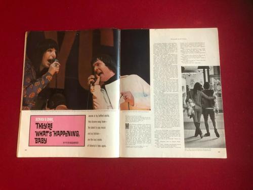 "1966, Sonny & Cher, ""POST"" Magazine  (Scarce / Vintage)"