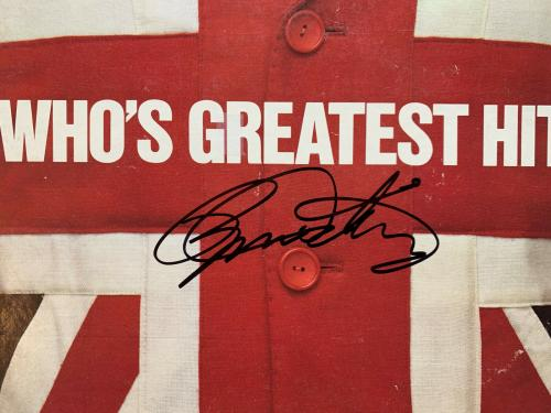 The Who Daltrey Townshend autographed signed vinyl record album Beckett BAS COA