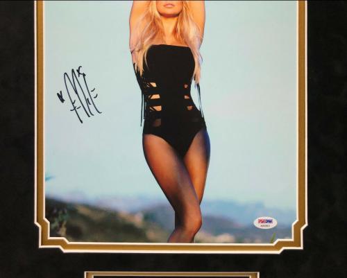 Fergie Signed & Framed 11x14 Photo *Model *Black Eyed Peas PSA AB92803