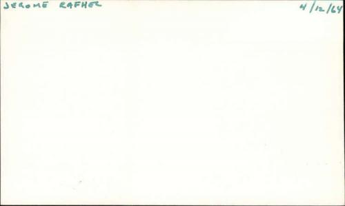 "Jerome Raphael D.2012 Actor Get Smart Signed 3"" x 5"" Index Card"