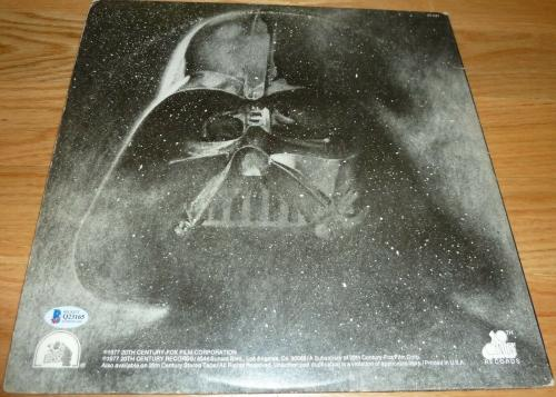 Beckett-bas Dave-david Prowse Is Darth Vader Autographed-signed Star Wars Record