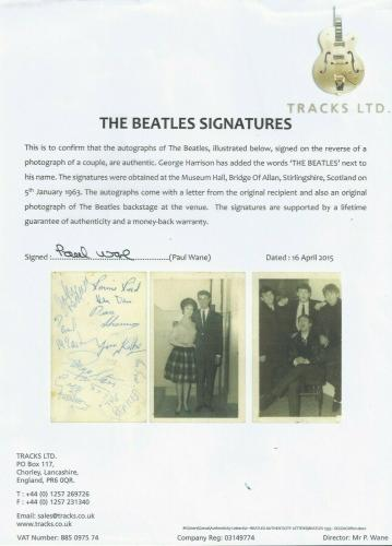 The Beatles Signed 1963 Postcard Beckett (bas) Certified Autographed By All 4!