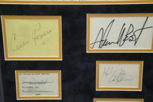 Adam West Burt Ward Batman TV Cast  Signed Autographed Cuts With Photo PSA & JSA