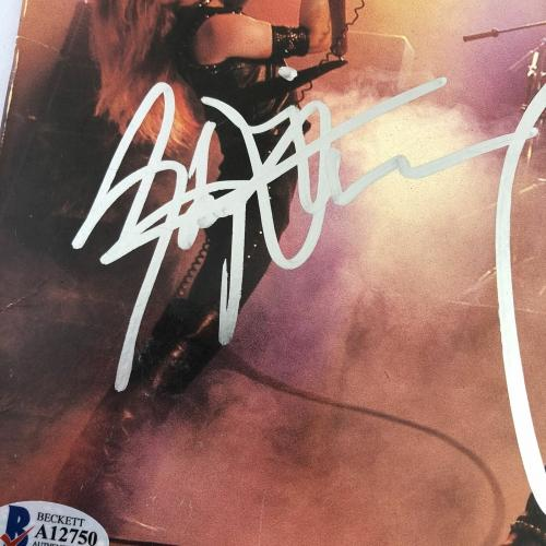 Judas Priest signed Unleashed in the East Album LP vinyl BAS Beckett Autographed