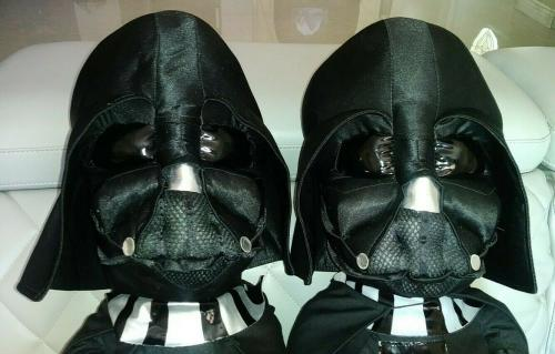 2pc Set Star Wars Darth Vader 21' Plush Toy Together We Can Rule The Galaxy Rare
