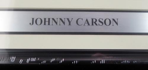 "Johnny Carson Autographed Framed Life Magazine ""To Craig"" Beckett BAS #H44390"