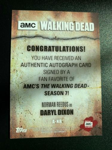 The Walking Dead 2018 Topps Auto Autograph Signature /99 Norman Reedus Daryl