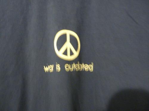 Slash Guns & Roses War Is Outdated Blue T Shirt OWNED BY SLASH & PERLA