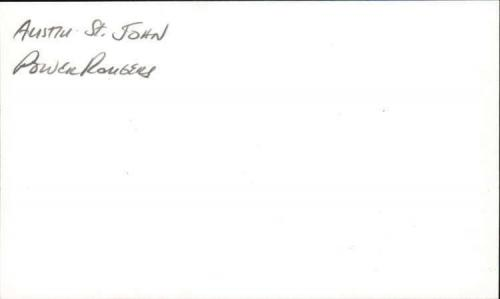 "Austin St. John Actor Power Rangers Signed 3"" x 5"" Index Card"