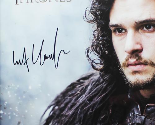 Kit Harington Signed Game of Thrones Framed Jon Snow Poster