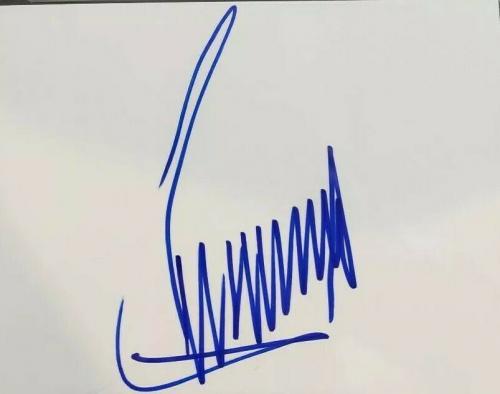 Donald Trump Signed Cut Huge 5x7 PSA DNA Mint 9 Autograph President Check It Out