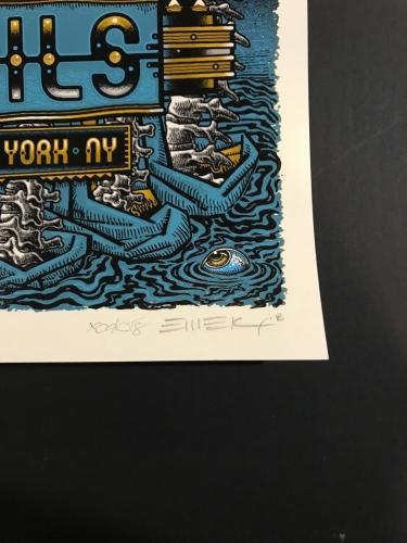 Nine Inch Nails Poster Radio City Music Hall NYC Emek Sign Numbered LAST POSTER