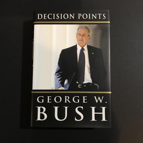 George W Bush Signed Book Autograph Decision Points Hardcover President JSA NICE