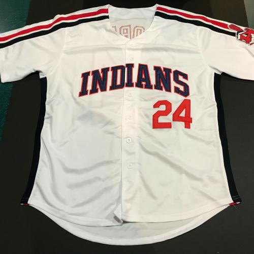 Corbin Bernsen Signed Jersey Cleveland Indians Strike This Motherf***er Out Auto