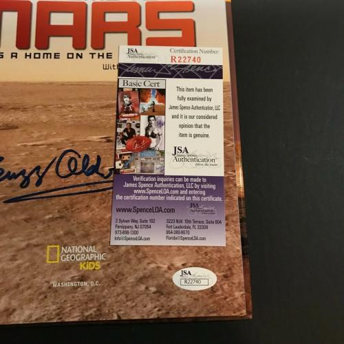 Buzz Aldrin Signed Book Auto Welcome To Mars Hardcover NASA Man On The Moon JSA