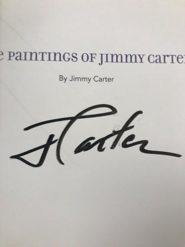 Jimmy Carter Signed Book Autograph The Paintings of Jimmy Carter President JSA