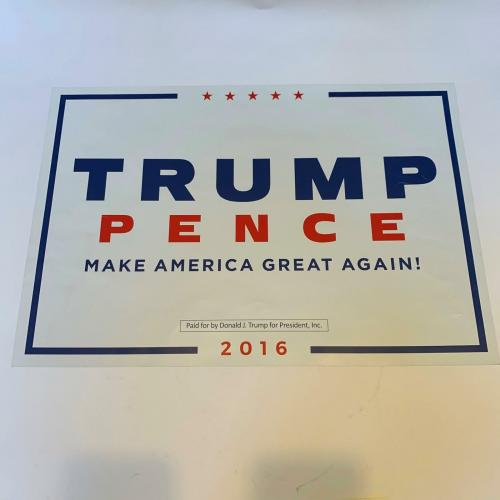 President Donald Trump Signed Make America Great Again Campaign Poster JSA COA