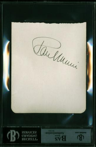 Ronald Reagan Signed 4.5x5.5 Album Page Autographed BAS Slabbed