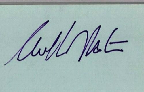"""WILLIAM SHATNER """"Cpt. Kirk"""" 1977 Signed Autograph 3x5 Index Card PSA/DNA SLABBED"""