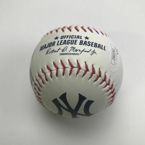 Autographed/Signed DONALD J TRUMP 45th President ROML Baseball JSA COA/LOA Auto