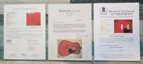 Paul Mccartney Authentic Signed Guitar With Jsa & Beckett Bas & Caiazzo Coa Loa