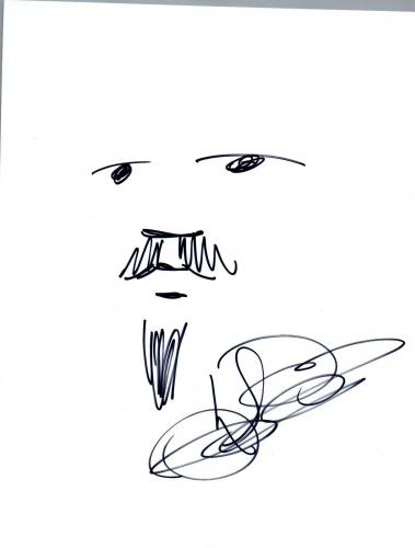 Karl Denson Signed Autographed Hand Drawn Drawing Sketch The Rolling Stones COA