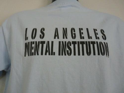 Slash Guns & Roses LA MENTAL INSTITUTION T Shirt OWNED BY SLASH SAUL HUDSON