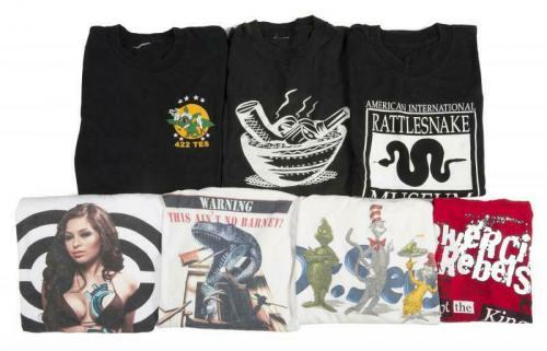 Slash Guns & Roses WHITE NOT BARNEY T Shirt OWNED BY SLASH SAUL HUDSON