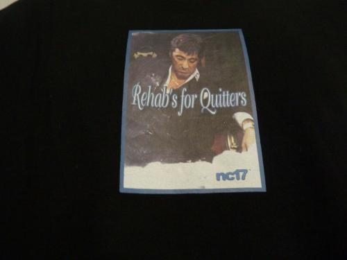 Slash Guns & Roses REHAB FOR QUITTERS Black T Shirt OWNED BY SLASH SAUL HUDSON