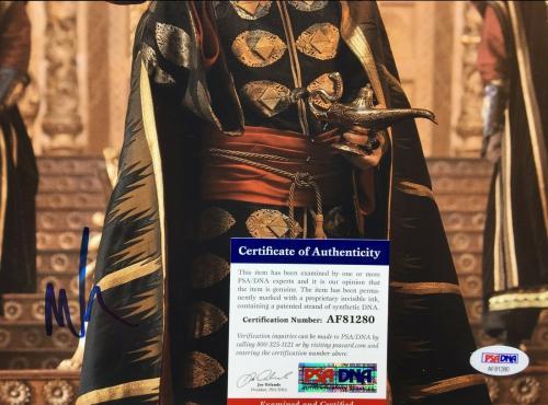 Marwan Kenzari Signed 'Aladdin' 11x14 Photo *Jafar PSA AF81280