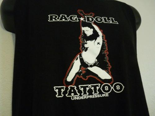 Slash Guns & Roses RAG DOLL TATTOO STAGE CUT T Shirt OWNED BY SLASH SAUL HUDSON