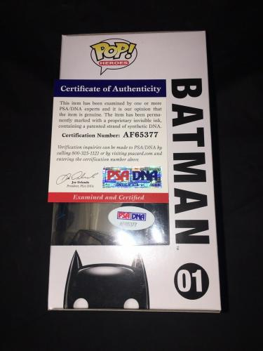 Christian Bale Signed Official Batman Funko Pop Dark Knight Trilogy PSA/DNA